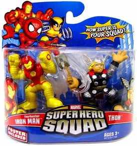 Marvel Super Hero Squad Series 13 Mini 3 Inch Figure 2-Pack Thorbuster Iron Man & Thor