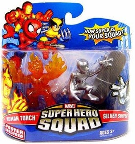 Marvel Super Hero Squad Series 13 Mini 3 Inch Figure 2-Pack Human Torch & Silver Surfer