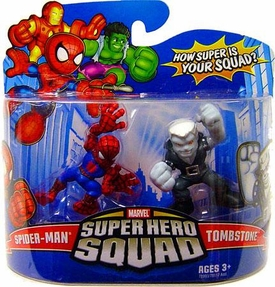 Marvel Super Hero Squad Series 12 Mini 3 Inch Figure 2-Pack Spider-Man & Tombstone