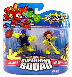 Marvel Super Hero Squad Series 11 Mini 3 Inch Figure 2-Pack Cyclops & Marvel Girl