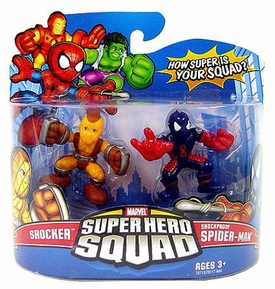 Marvel Super Hero Squad Series 11 Mini 3 Inch Figure 2-Pack Shocker & Shockproof Spider-Man