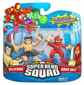 Marvel Super Hero Squad Series 8 Mini 3 Inch Figure 2-Pack Wolverine & Hand Ninja