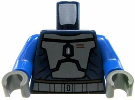 LEGO LOOSE TORSO Navy Blue with Gray Armor & Blue Arms