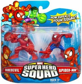 Marvel Super Hero Squad Series 7 Mini 3 Inch Figure 2-Pack Daredevil & Spider-Man