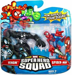 Marvel Super Hero Squad Series 7 Mini 3 Inch Figure 2-Pack Spider-Man & Venom
