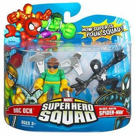 Marvel Super Hero Squad Series 6 Mini 3 Inch Figure 2-Pack Black Spider-Man & Doc Ock