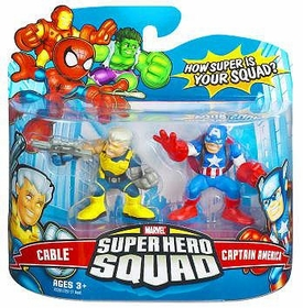 Marvel Super Hero Squad Series 6 Mini 3 Inch Figure 2-Pack Captain America & Cable
