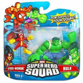Marvel Super Hero Squad Series 6 Mini 3 Inch Figure 2-Pack Hulk & Spider-Woman