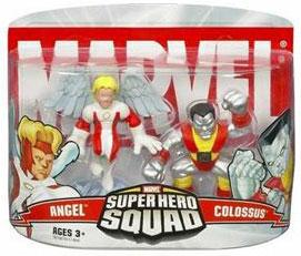 Marvel Super Hero Squad Series 1 Mini 3 Inch Figure 2-Pack Colossus & Angel