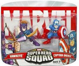Marvel Super Hero Squad Series 1 Mini 3 Inch Figure 2-Pack Captain America & Hawkeye
