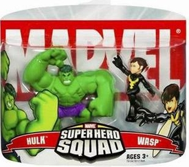 Marvel Super Hero Squad Series 2 Mini 3 Inch Figure 2-Pack Wasp & Hulk
