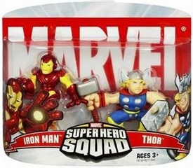 Marvel Super Hero Squad Series 2 Mini 3 Inch Figure 2-Pack Iron Man & Thor