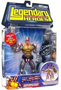 Legendary Heroes Marvel Toys Series 1 Action Figure Super Patriot [Mask On]