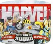 Marvel Super Hero Squad Series 5 Mini 3 Inch Figure 2-Pack Wolverine with Weapon X Cycle