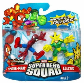 Marvel Super Hero Squad Series 9 Mini 3 Inch Figure 2-Pack Spider-Man & Electro