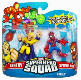Marvel Super Hero Squad Series 9 Mini 3 Inch Figure 2-Pack Spider-Man & Sentry