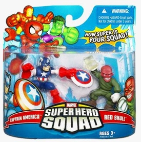 Marvel Super Hero Squad Series 9 Mini 3 Inch Figure 2-Pack Captain America & Red Skull