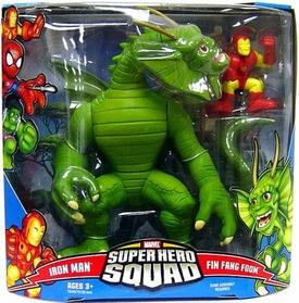 Marvel Super Hero Squad Series 3 Mega Pack Fin Fang Foom & Iron Man
