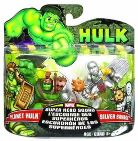 Marvel Super Hero Squad Incredible Hulk Movie Series 1 Mini 3 Inch Figure 2-Pack Planet Hulk & Silver Savage