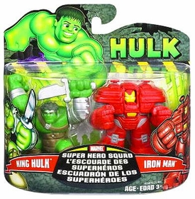 Marvel Super Hero Squad Incredible Hulk Movie Series 1 Mini 3 Inch Figure 2-Pack King Hulk & [Hulk Buster] Iron Man