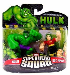 Marvel Super Hero Squad Incredible Hulk Movie Series 3 Mini 3 Inch Figure 2-Pack Hulk & Doc Samson