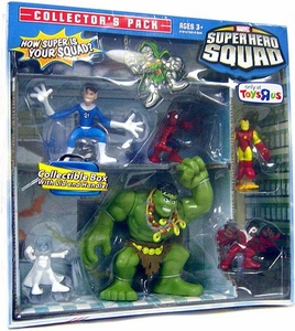 Hasbro Marvel Super Hero Squad Exclusive Collector's 6-Pack Box Set [Falcon, Emma Frost, Iron Man, Spider-Man, Mr. Fantastic & Hulk]