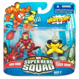 Marvel Super Hero Squad Series 20 Mini 3 Inch Figure 2-Pack Iron Man & Tigershark