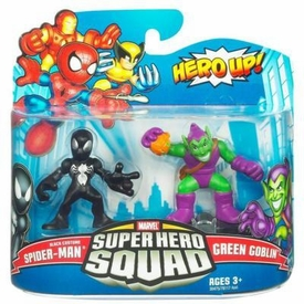 Marvel Super Hero Squad Series 20 Mini 3 Inch Figure 2-Pack Black Spider-Man & Green Goblin