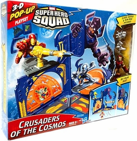 Marvel Super Hero Squad 3-D Pop Up Playset Crusaders of the Cosmos [Includes Silver Surfer & Iron Man Figures]