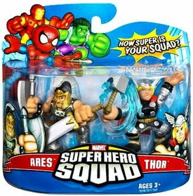 Marvel Super Hero Squad Series 8 Mini 3 Inch Figure 2-Pack Ares & Thor