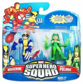 Marvel Super Hero Squad Series 21 Mini 3 Inch Figure 2-Pack Wolverine & Polaris