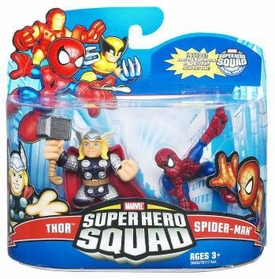 Marvel Super Hero Squad Series 21 Mini 3 Inch Figure 2-Pack Spider-Man & Thor