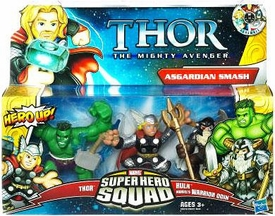 Super Hero Squad Thor The Mighty Avenger 3-Pack Asgardian Smash