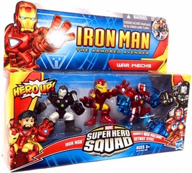 Super Hero Squad Iron Man The Armored Avenger 3-Pack War Mechs