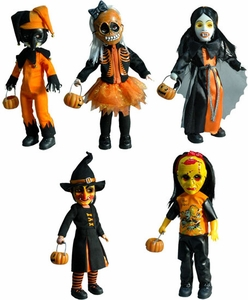 Mezco Toyz Living Dead Dolls Series 18 Set of 5 HALLOWEEN Variant Figures Only 275 Made!