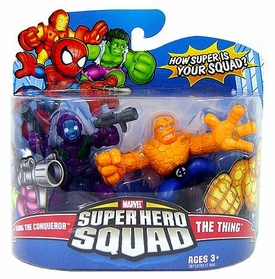Marvel Super Hero Squad Series 11 Mini 3 Inch Figure 2-Pack Kang The Conqueror & The Thing