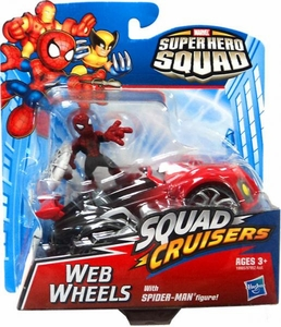 Super Hero Squad Cruisers Action Figure & Vehicle Web Wheels with Spider-Man