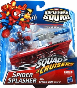 Super Hero Squad Cruisers Action Figure & Vehicle Spider Splasher with Spider-Man