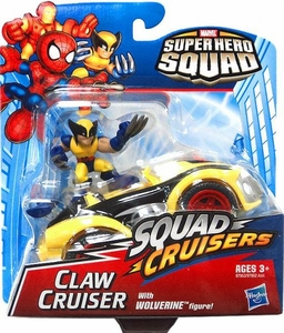 Super Hero Squad Cruisers Action Figure & Vehicle Claw Cruiser with Wolverine