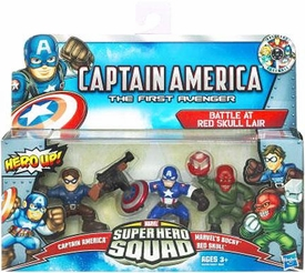 Superhero Squad Captain America First Avenger 3-Pack Battle at Red Skull Lair