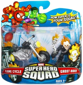 Marvel Superhero Squad Series 7 Mini 3 Inch Figure 2-Pack Ghost Rider & Flame Cycle