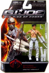 GI Joe Movie The Rise of Cobra 3 3/4 Inch Action Figure Storm Shadow [Arctic Assault] {No Mask Variant}