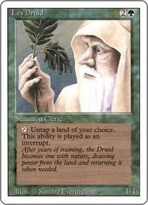 Magic the Gathering Revised Edition Single Card Uncommon Ley Druid