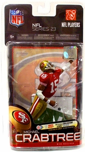 McFarlane Toys NFL Sports Picks Series 23 Action Figure Michael Crabtree (San Francisco 49ers) Red Jersey