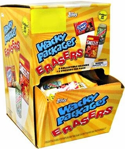 Topps Wacky Packages Erasers Series 1 Booster BOX [24 Packs]