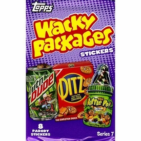 Topps Wacky Packages Series 7 Trading Card Stickers Pack