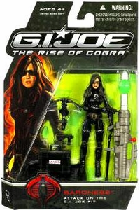 GI Joe Movie The Rise of Cobra 3 3/4 Inch Action Figure Baroness [Attack on the GI Joe Pit]