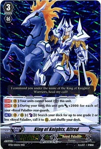 Cardfight Vanguard ENGLISH Descent of the King of Knights Single Card RRR Rare BT01-001EN King of Knights, Alfred