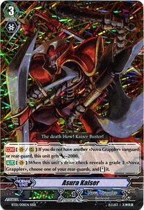 Cardfight Vanguard ENGLISH Descent of the King of Knights Single Card RRR Rare BT01-008EN Asura Kaiser