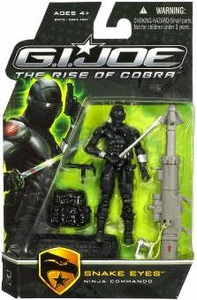 GI Joe Movie The Rise of Cobra 3 3/4 Inch Action Figure Snake Eyes [Ninja Commando]